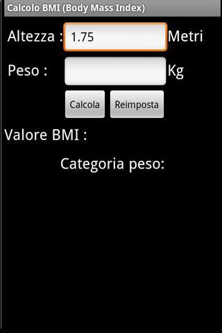 Calcolatore di BMI IMC