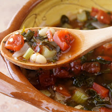 Rustic Red Kale and White Bean Soup