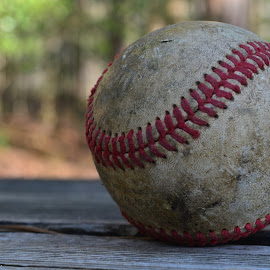 Baseball by Jarrod Elliott - Sports & Fitness Baseball ( old ball, wood, nature, baseball, sports,  )