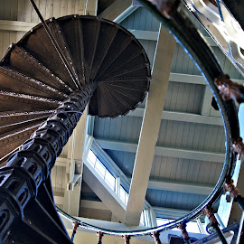 Winding staircase 1 by Anita Berghoef - Buildings & Architecture Architectural Detail ( stairs, architectural detail, architecture, looking up, pumping station, winding staircase )