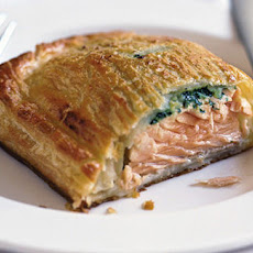 Salmon En Croute With Watercress, Lemon And Tarragon Butter Recipe