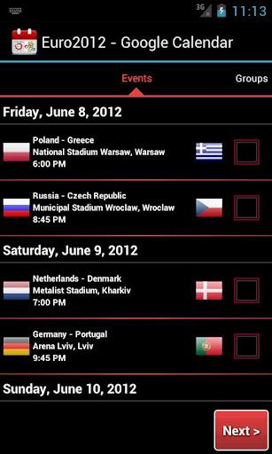 Euro2012 - Google Calendar