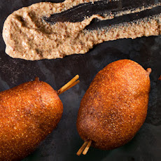 Mini Beer-and-Sausage Corn Dogs Recipe