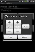 Screenshot of Power Schedule Basic