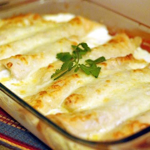 Caramelized Onion & Cream Cheese Chicken Enchiladas (Adapted Recipe ...