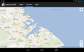 Screenshot of MCA Malta Free WiFi