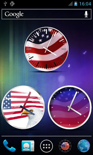 USA Clock Widgets