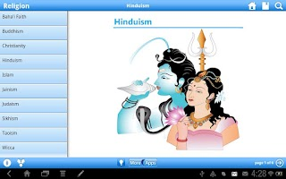 Screenshot of Religion by WAGmob