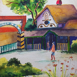Farm House by Devraj Poddar - Painting All Painting