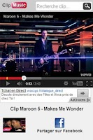 Screenshot of Clip Music Vidéo