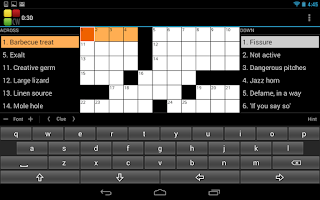 Screenshot of Crossword Puzzle