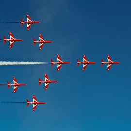 Red Arrows by Ferveez Mohideen - Transportation Airplanes