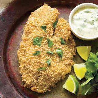 Tortilla-Crusted Tilapia