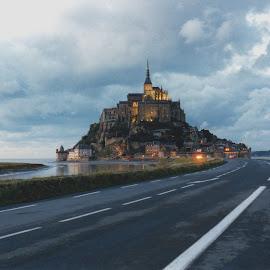 Mont St Michel by Steve Cooke - City,  Street & Park  Historic Districts (  )