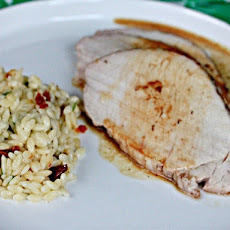 Brown Sugar-Rubbed Pork Loin with Orzo