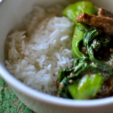 Stif-Fry Beef with Baby Bok Choy