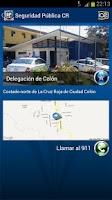 Screenshot of Seguridad Pública CR