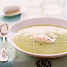 Fava Bean Soup with Carrot Cream