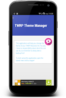 Screenshot of TWRP Theme Manager