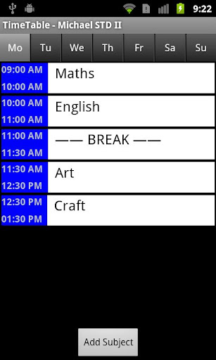 Time Table Lite