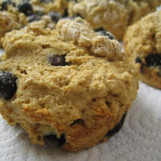 Fat Free, Sugar-Free Whole Wheat Blueberry Muffins