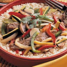 Pepper Steak with Squash
