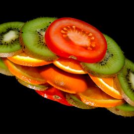orange,kiwi and tomatoes by LADOCKi Elvira - Food & Drink Fruits & Vegetables ( vegetables )