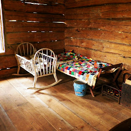Cabin Fever by Kasha Newsom - Artistic Objects Furniture ( cabin, country living, children bed, historical, antique )