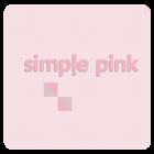 심플핑크 카카오톡 테마 icon