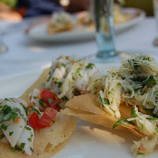 Shrimp and Crab Ceviche on Fried Tortillas