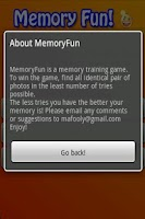 Screenshot of Memory for kids card matching