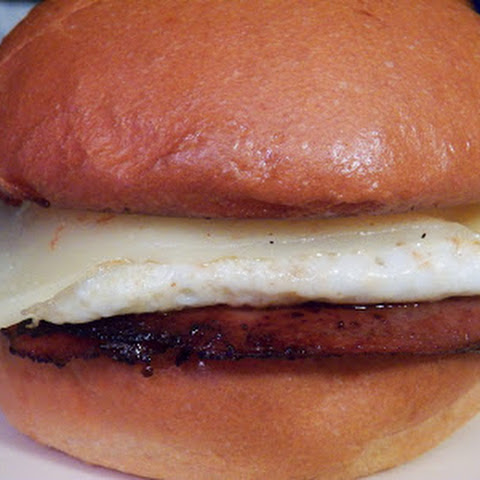 Fried Bologna and Egg Sandwich