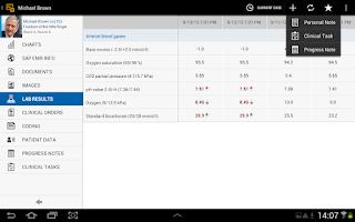 Screenshot of SAP EMR Unwired