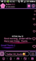 Screenshot of Pink Neon Heart Theme 4 GO SMS