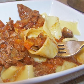 Crock-Pot Beef Ragu with Pappardelle
