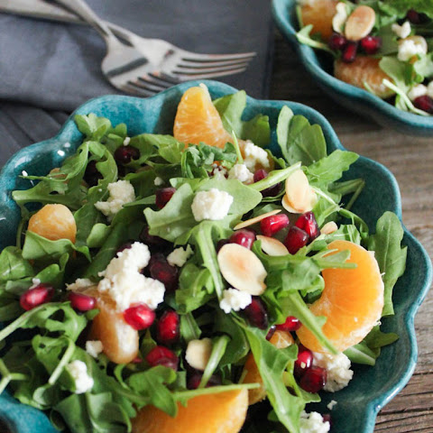 Pomegranate, Clementine and Ricotta Salad with Toasted Almonds and Avocado (aka Antioxidant Salad)
