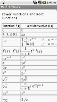 Screenshot of Math Formulary PRO