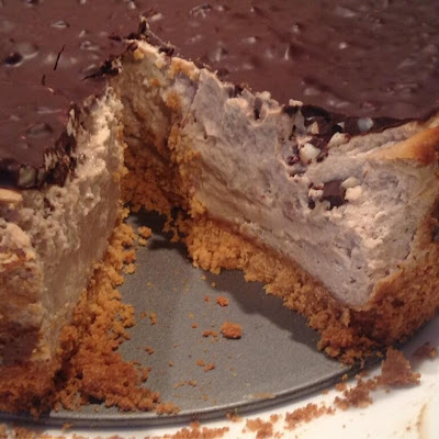 Snickers Style Protein Cheesecake