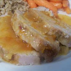 Delicious Apricot Glazed Pork Roast (Crock Pot)