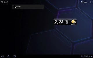 Screenshot of Smoked Glass Weather Clock