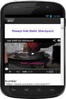 Screenshot of Resepi Kek Batik Sedap