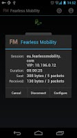 Screenshot of Fearless Mobility VPN