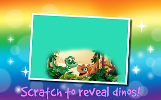 Screenshot of Kids Dinosaur Scratch Off Game
