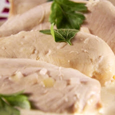 Champagne Poached Chicken with Grape Salad