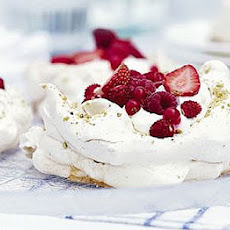 Pistachio Meringues With Summer Berries