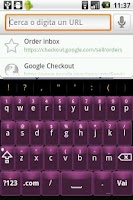 Screenshot of Pink Glass Keyboard Skin