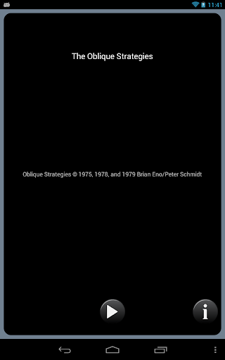 The Oblique Strategies