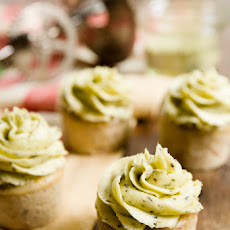 Strawberry Basil Cupcakes with Basil Buttercream