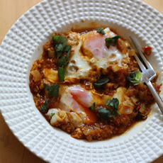 Eggs Poached in a Simple Homemade Curry