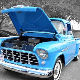 I'm so blue! by Dawn Hoehn Hagler - Transportation Automobiles ( car, cops and rodders, truck, blue, automobile, auto, transportation, hot rod,  )